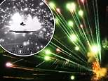 Camera-fitted drone's nighttime flight through fireworks show creates spectacular sci-fi-like optics
