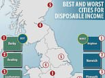 The UK's best and worst cities for disposable income... Derby takes the top spot