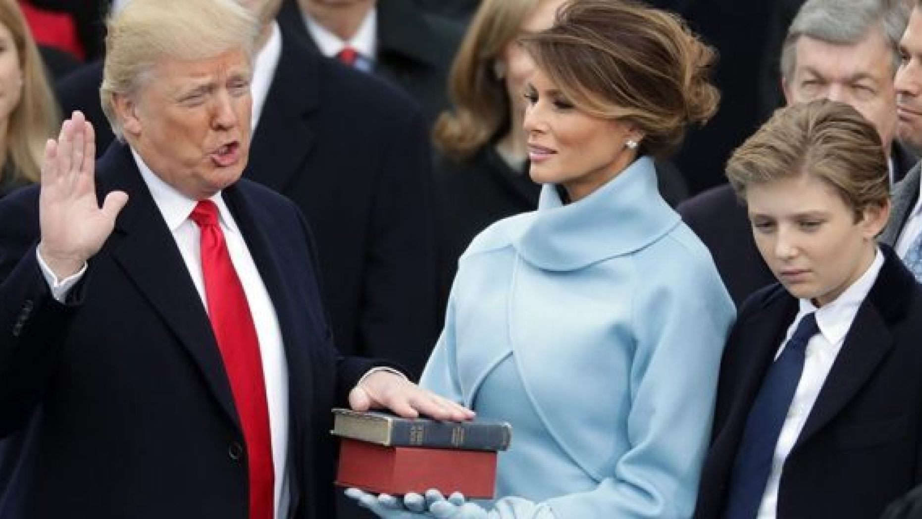 President DonaldTrump and first lady Melania Trump, seen here at the 2017 inauguration, were nominated for Razzie awards. (Chip Somodevilla/Getty Images, File)