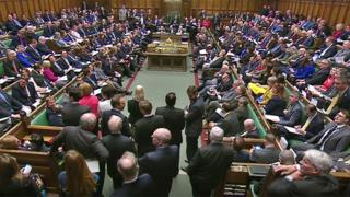 MPs in the Commons during Prime Minister