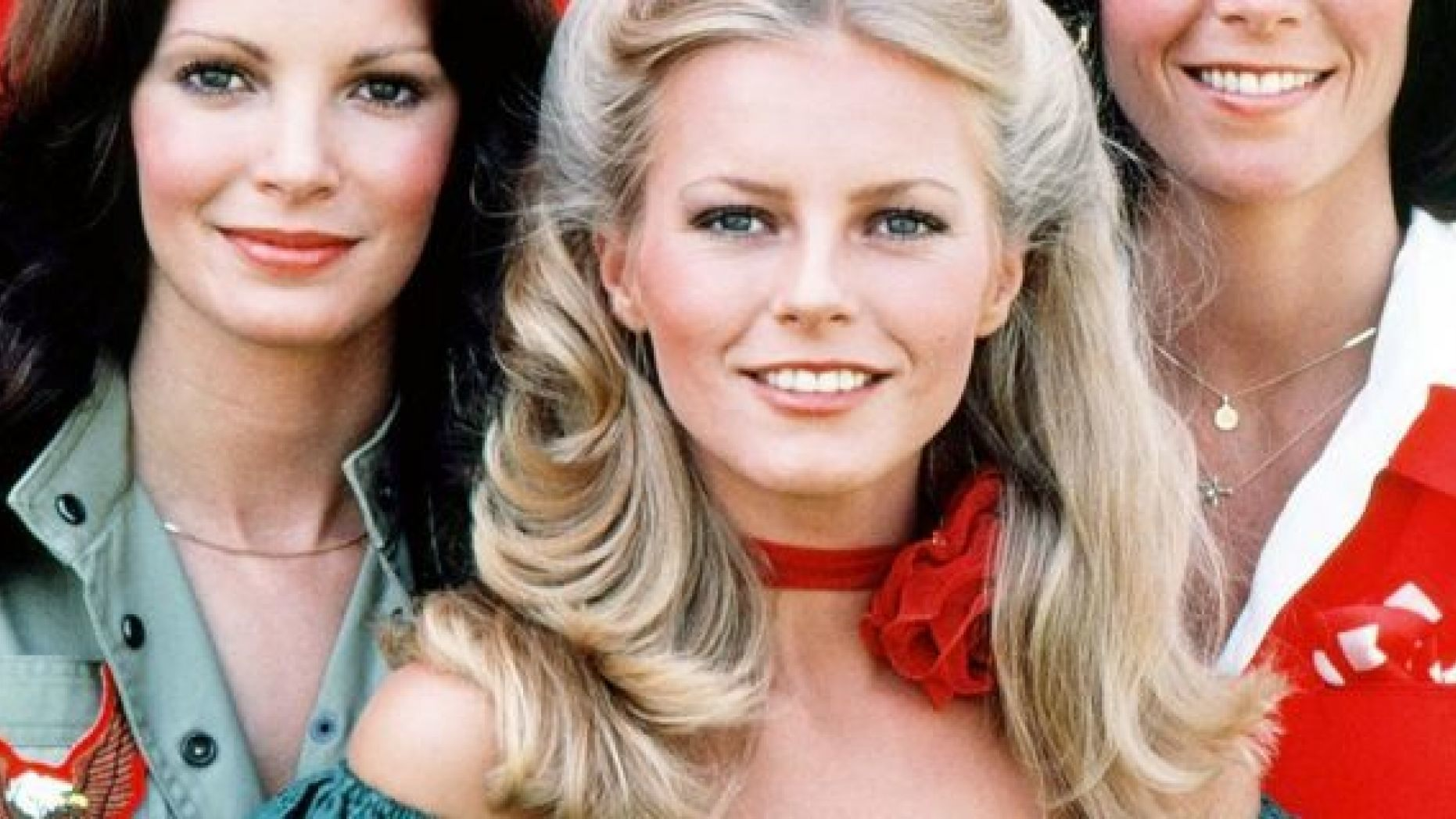 American actresses (left to right) Jaclyn Smith, Cheryl Ladd and Kate Jackson, stars of the American TV show