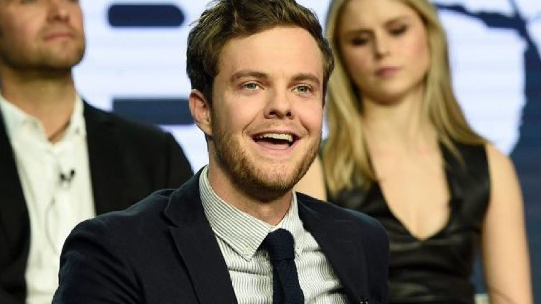 """Jack Quaid spoke about growing up with his famous parents, Dennis Quaid and Meg Ryan, during the Amazon Prime Video """"The Boys"""" panel at the Winter Television Critics Association Press Tour on Wednesday, Feb. 13, 2019, in Pasadena, Calif."""