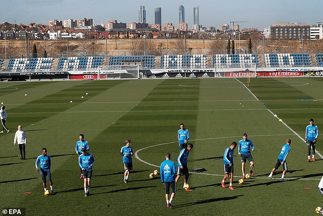 Real Madrid trained on a sunny Saturday morning ahead of the visit of Girona