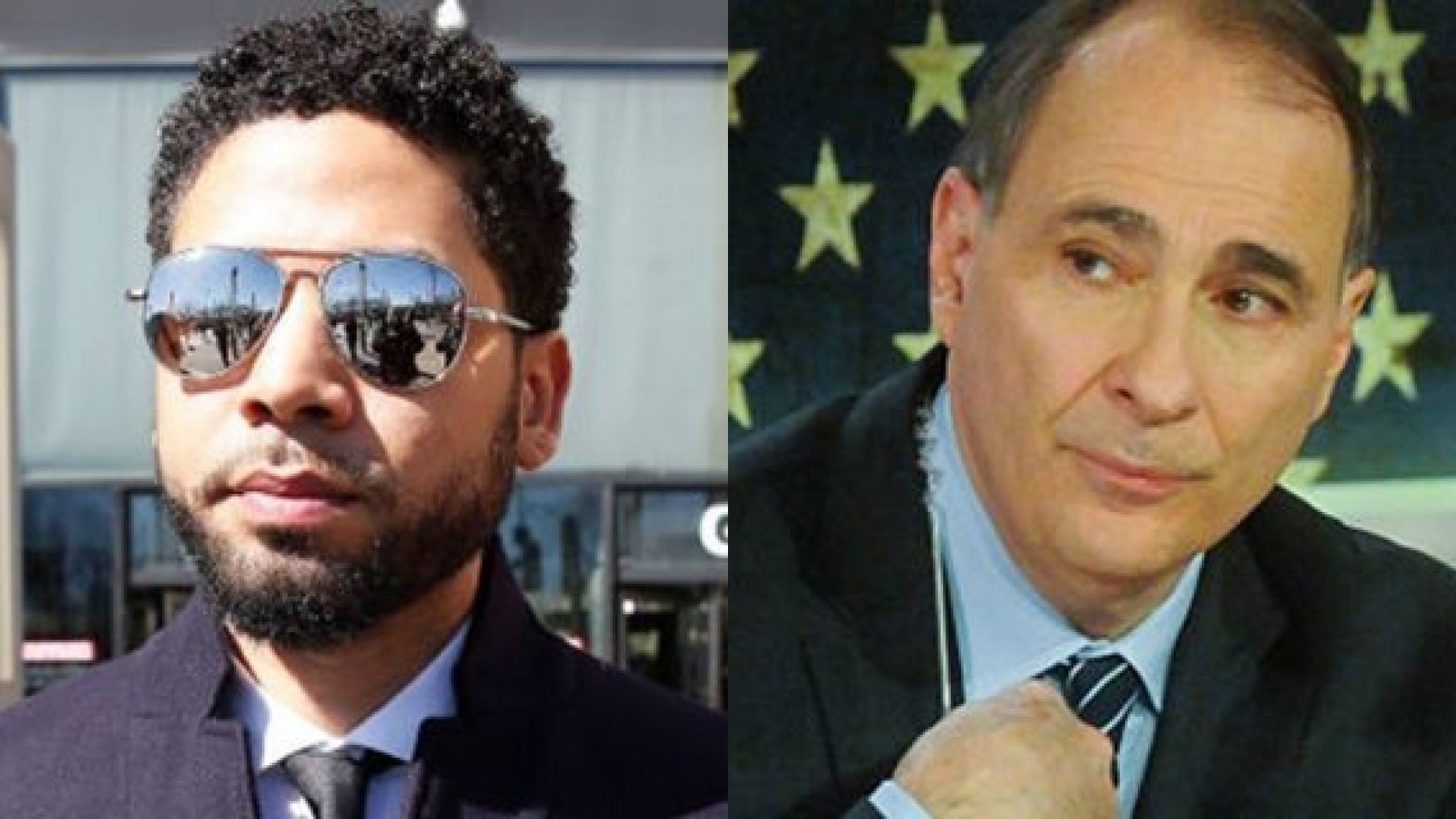 "In a thread on Twitter, ex-Obama adviser David Axelrod, right, condemned ""this weird turn in the (Jussie) Smollett case."" (Getty)"