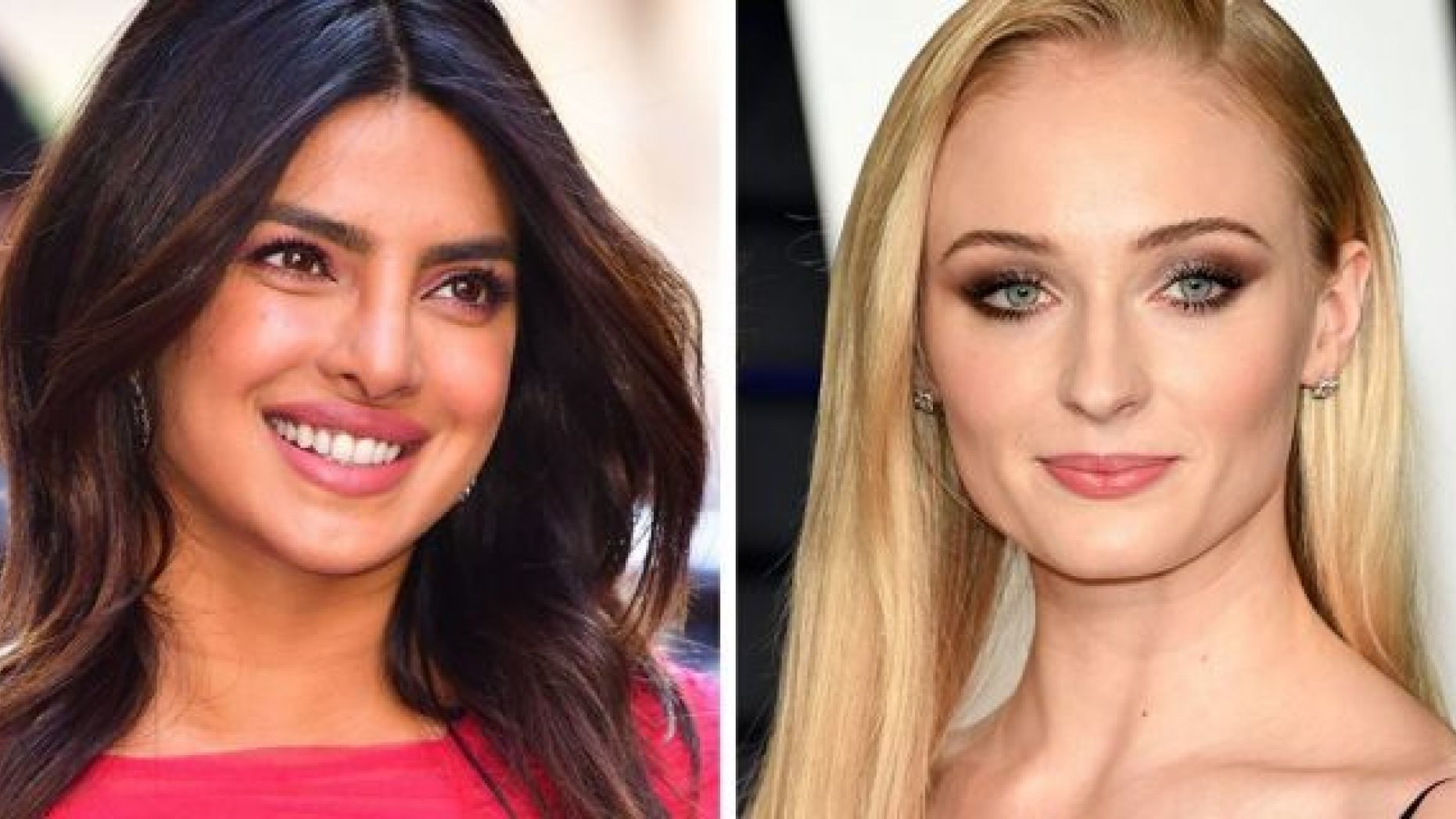 Actresses Priyanka Chopra, left, and Sophie Turner enjoyed some fun in the sun with significant others Nick and Joe Jonas.