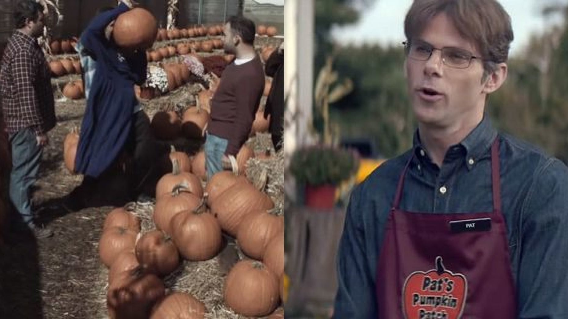 """The Temple Horses sketch, left, and """"Pumpkin Patch"""" from """"Saturday Night Live"""""""