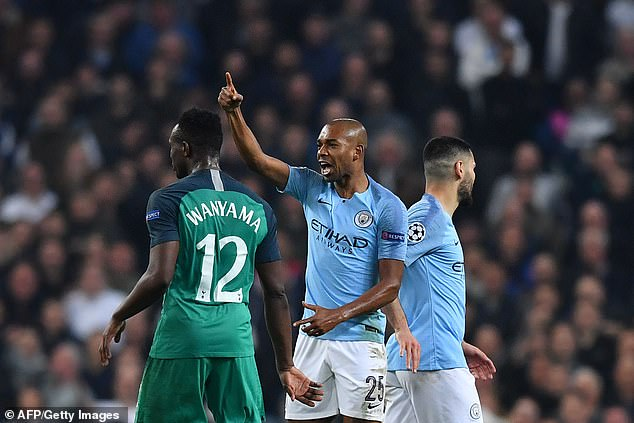 Manchester City midfielder Fernandinho could only say