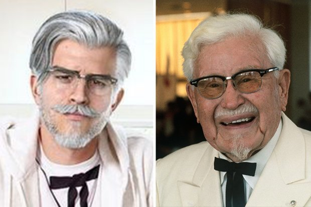 kfc colonel sanders sexy makeover instagram influencer