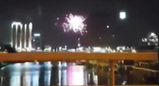 Ajax supporters are believed to have set of the fireworks above Juventus