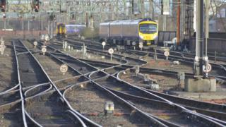 A Transpennine Express arriving at Manchester Piccadilly railway station