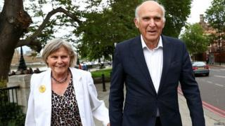 Sir Vince Cable with his wife Ruth in London in May 2019
