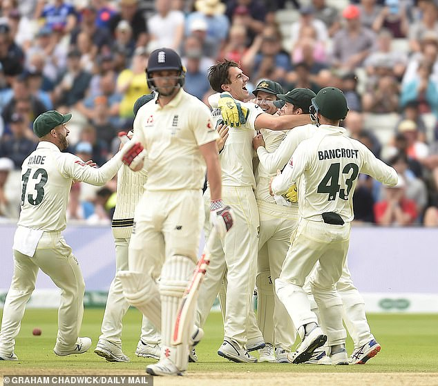 England fell like dominoes as Australia blitzed through their batting order to win the first Test