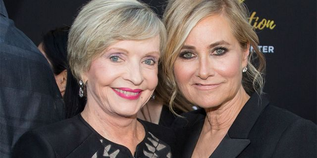 Florence Henderson and Maureen McCormick in a June 2016 file photo. (Photo by Gabriel Olsen/FilmMagic)