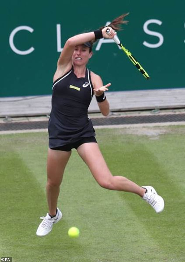 British No 1 Jo Konta playing at the Nature Valley Classic in Birmingham in 2018