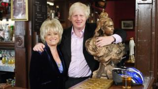 Dame Barbara Windsor and Boris Johnson