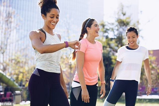 Fitbits and other fitness trackers may not be giving accurate heart rate readings to people of colour because the technology used struggles to work with dark skin (file photo)