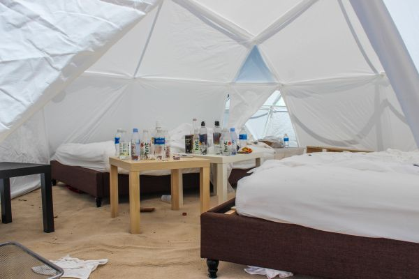 Attendees thought they would be staying in luxury accommodations. Instead, festival goes were shocked to find tents.