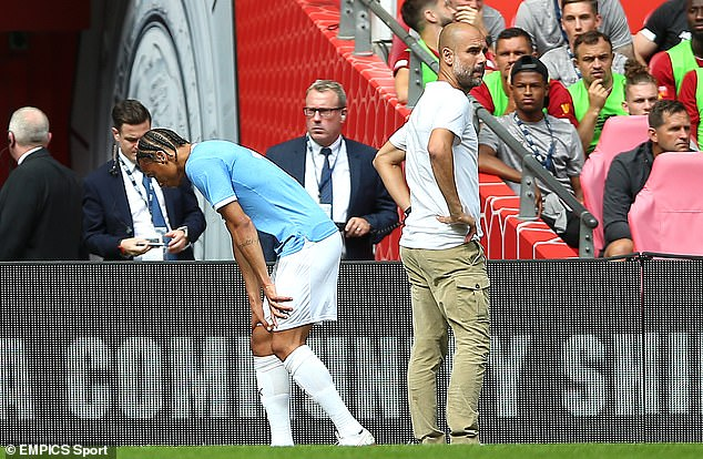 Leroy Sane was substituted during Manchester City