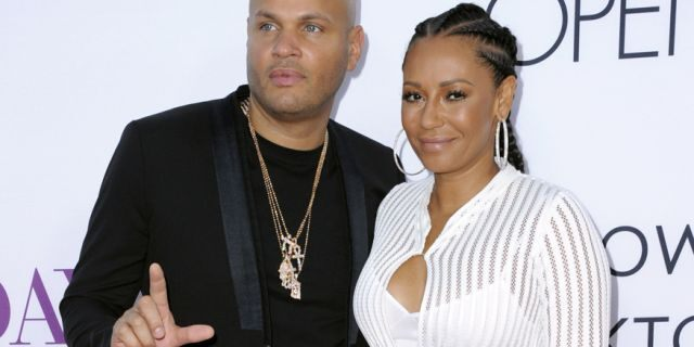 Stephen Belafonte and Mel B in 2016