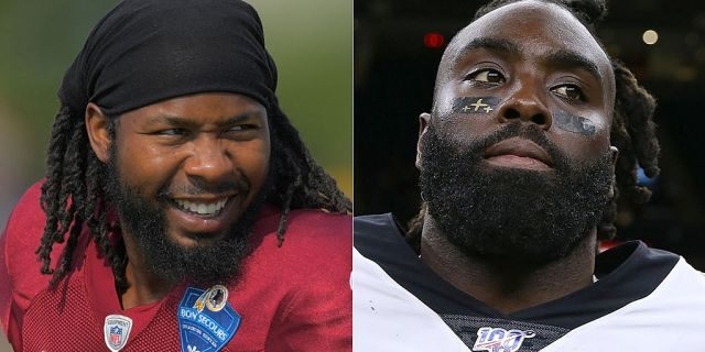 Josh Norman, left, and Demario Davis helped bail out an illegal immigrant who was detained by immigration officials in May.