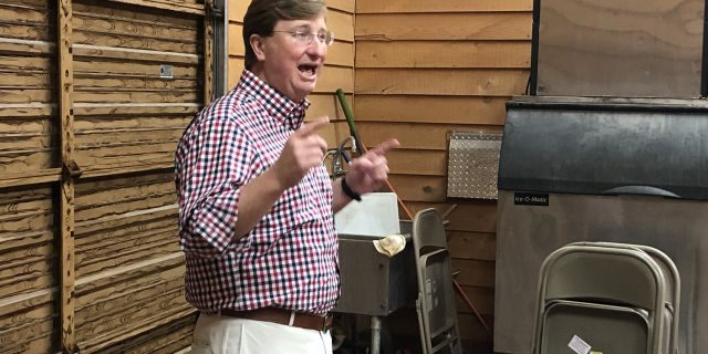 Tate Reeves urged a room full of supporters to vote for him in the August 27th Republican run-off. He said he