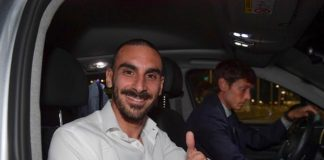 Davide Zappacosta was all smiles as he arrived in Rome to seal a loan deal to join Roma