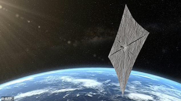 A Mylar sail measuring roughly one five-thousandth of an inch thick has successfully deployed in orbit, in what could prove to be a major step forward for low-cost spacecraft propulsion. (Artist