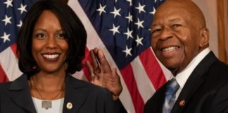 Rep. Elijah Cummings, who died early Thursday at age 68, is seen with his wife, Maya Rockeymoore Cummings, on Capitol Hill in Washington, D.C., Jan. 3, 2019. (Getty Images)