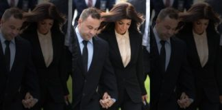 Teresa and Joe Giudice enter federal court in Newark, N.J., for an appearance on federal conspiracy and bankruptcy fraud charges in 2014.