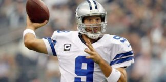 Tony Romo, of the Dallas Cowboys, broke out against the Tampa Bay Buccaneers on Thanksgiving 2006.