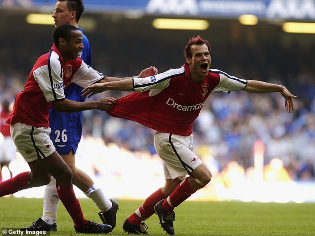Freddie Ljungberg became a firm fan favourite at Arsenal, winning five major trophies