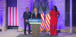 Democratic presidential candidate and former NYC Mayor Mike Bloomberg holds a campaign event in Montgomery, Alabama on Dec. 30, 2019. (Fox News).