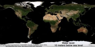 A round 70 percent of the Earth is covered with oceans, but an animation reveals what our planet would look like it all disappeared