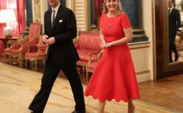 Prince Edward, Earl of Wessex and Sophie, Countess of Wessex arrive at a reception to mark the UK-Africa Investment Summit at Buckingham Palace on January 20, 2020 in London, England.
