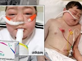Stricken 13-year-old Ayden Cochrane