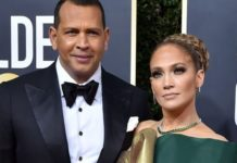 Alex Rodriguez and Jennifer Lopez attend the 77th Annual Golden Globe Awards at The Beverly Hilton Hotel on January 05, 2020 in Beverly Hills, California. (Photo by Axelle/Bauer-Griffin/FilmMagic)