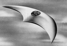 Pilot Kenneth Arnold said he saw a UFO like this one