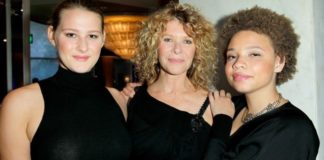 """Actress Kate Capshaw (C), and daughters Mikaela George Spielberg (R) and Destry Allyn Spielberg (L) attend EIF Women's Cancer Research Fund's 16th Annual """"An Unforgettable Evening"""" presented by Saks Fifth Avenue at the Beverly Wilshire Four Seasons Hotel on May 2, 2013, in Beverly Hills, Calif. (Photo by Donato Sardella/Getty Images for EIF)"""