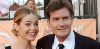 Denise Richards and Charlie Sheen at the 2005 SAG Awards.