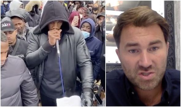 Anthony Joshua 'upset' at Black Lives Matter speech critics as Eddie Hearn makes admission