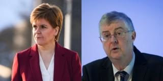Nicola Sturgeon and Mark Drakeford