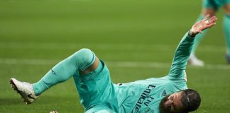 Real Madrid defender Sergio Ramos was forced off with a knee injury in win vs Real Sociedad