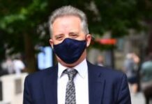 Christopher Steele, a former British spy who wrote a 2016 dossier about alleged links between Donald Trump and Vladimir Putin, arrives at the High Court in London for a hearing in the libel case brought against him by Russian businessman Aleksej Gubarev.