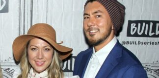 ColbieCaillat and Justin Young. (Photo by Jim Spellman/Getty Images)