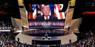 In this July 21, 2016, file photo Republican presidential candidate Donald Trump smiles as he addresses delegates during the final day session of the Republican National Convention in Cleveland. (AP Photo/Patrick Semansky, File)