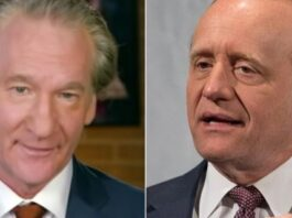 Bill Maher, left, and former Clinton adviser Paul Begala clashed during Friday night