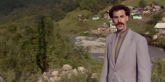 Sacha Baron Cohen as Borat in