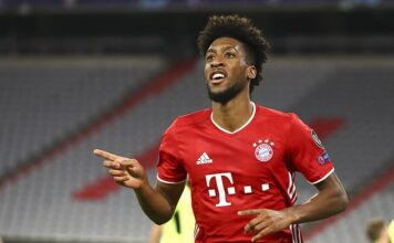 Kingsley Coman scored twice as Bayern Munich thrashed Atletico Madrid at the Allianz Arena