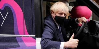 Boris Johnson on a visit to an energy firm