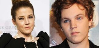 Lisa Marie Presley (left) paid tribute to her late son, Benjamin Keough, on what would